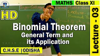 Mathematics | Binomial Theorem | Lecture -03 | Elements of Mathematics | General Terms & application