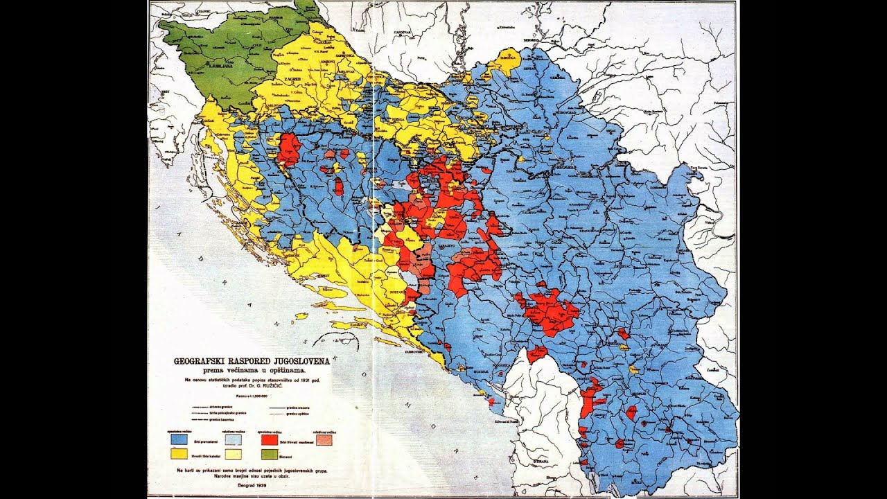 mapa jugoslavije mapa iz1939 god. zabranjena za vreme titove jugoslavije   YouTube mapa jugoslavije
