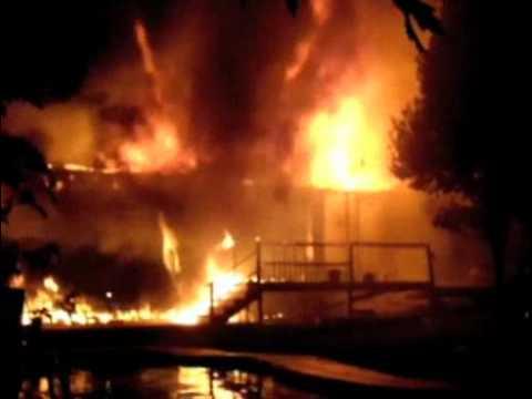 Blaze in Providence Township [raw video]