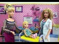 BARBIE PRINCESS Doctor! Elsa & Disney Princesses Cinderella Ariel Belle & Rapunzel go Doctor!
