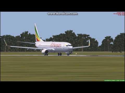 [FSX] Ethiopian Airlines Departure from Kamuzu International Airport, Lilongwe