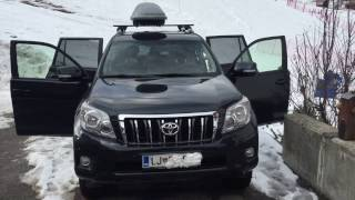 TOYOTA Land Cruiser 2010, V6, diesel - cold start, fun in snow, interior review