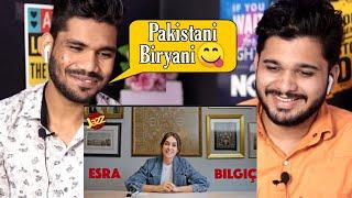 Reacting to Ertugrul Ghazi Fame Esra Bilgic Tries Pakistani Food Jazz