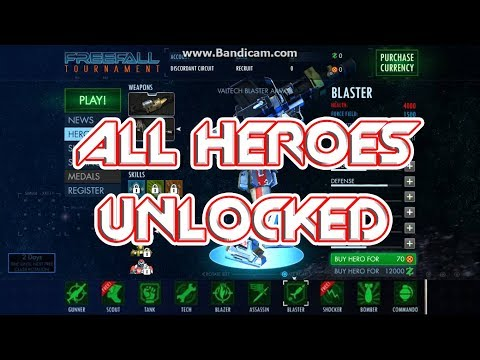 FREEFALL TOURNAMENT ALL HEROES UNLOCKED! AND IN ACTION!