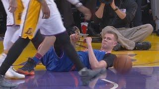 Kristaps Porzingis Hosts a Block Party! 7 Blocks Knicks vs Lakers