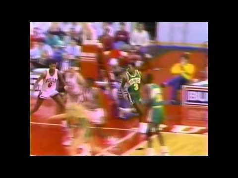 Michael Jordan (39points) vs Dale Ellis (34points), 1987-88, highlights