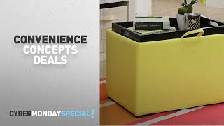 Top Cyber Monday Convenience Concepts Deals: Convenience Concepts 143523Y Accent Storage Ottoman,