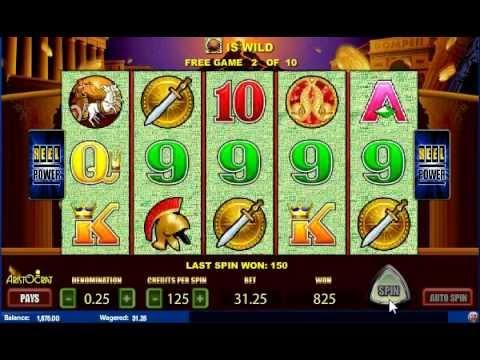 Aristocrat Slots Emulator Pompeii Free Spins Bonus Game
