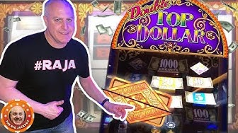 💰HIGH LIMIT 3 REEL💰 $50 Spin WIN$ on Double Top Dollar Slots 🎰