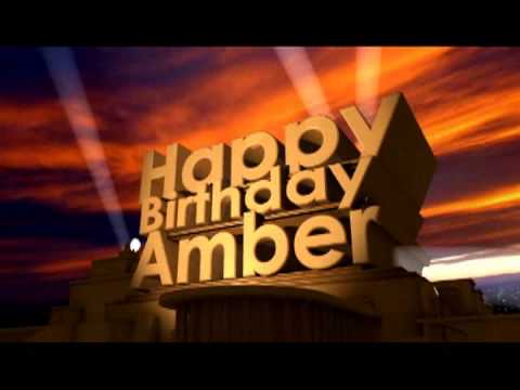 Happy Birthday Amber YouTube
