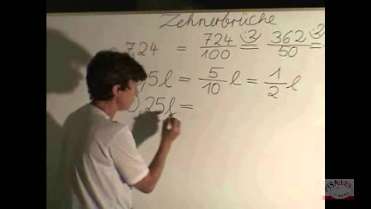 514 - dezimalbrüche - zehnerbrüche - youtube