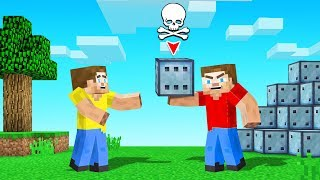 TROLLED My Friend With A BAD CHANCE BLOCK! (Minecraft)