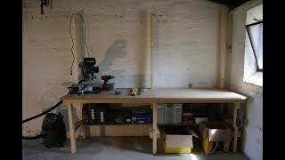 Byg selv 80x240cm arbejdsbord / værkstedsbord