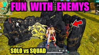 Fun with Enemys Solo vs Squad in Free Fire / Free Fire Tips and Tricks Tamil / Tamil Free Fire