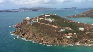 9/10/17 Aerial Footage Lameshur Bay to the Westin St John USVI after Hurricane Irma