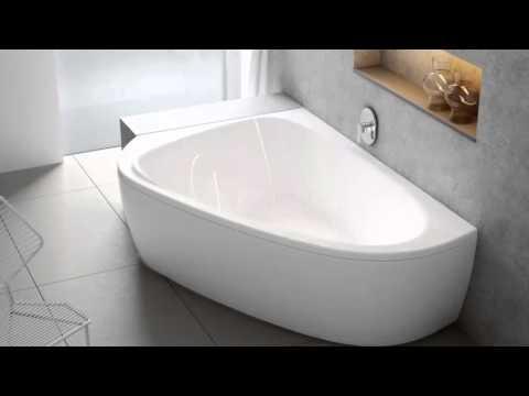 Асимметричные акриловые ванны