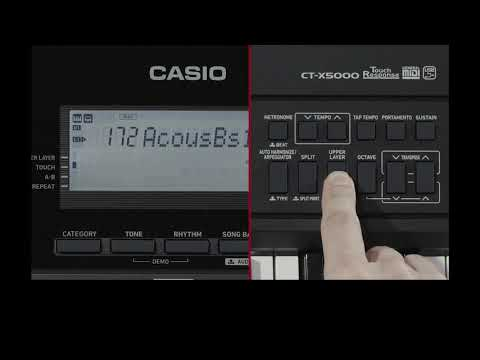 CASIO 카시오 CT-X5000 비디오 매뉴얼 - 제 2장 : 음색