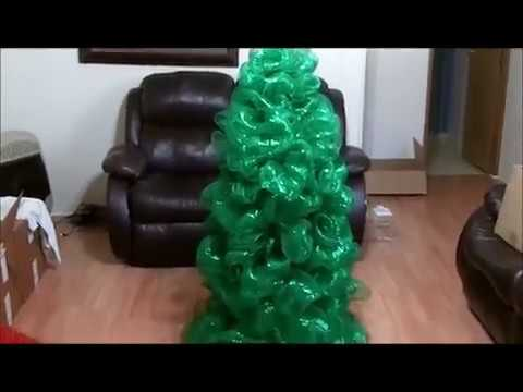 Deco Mesh Christmas tree - YouTube