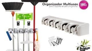 Organizador Multiusos colgador de útiles de Aseo, escobas - aPreciosdeRemate