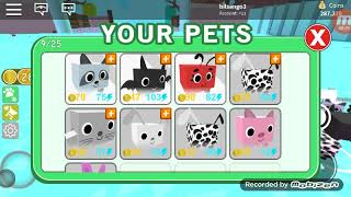 ROBLOX PETS SIMULATOR WE'RE PLAYING I'VE HAD 500,000 COINS #3