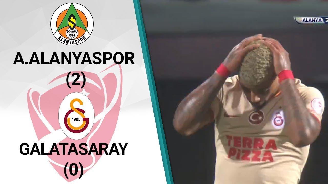 Alanyaspor 2 - 0 Galatasaray MAÇ ÖZETİ (Ziraat Türkiye Kupası Çeyrek Final İlk Maçı)