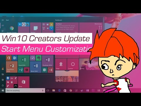 I Customize the Start Menu of Windows 10 Creators Update for About an Hour