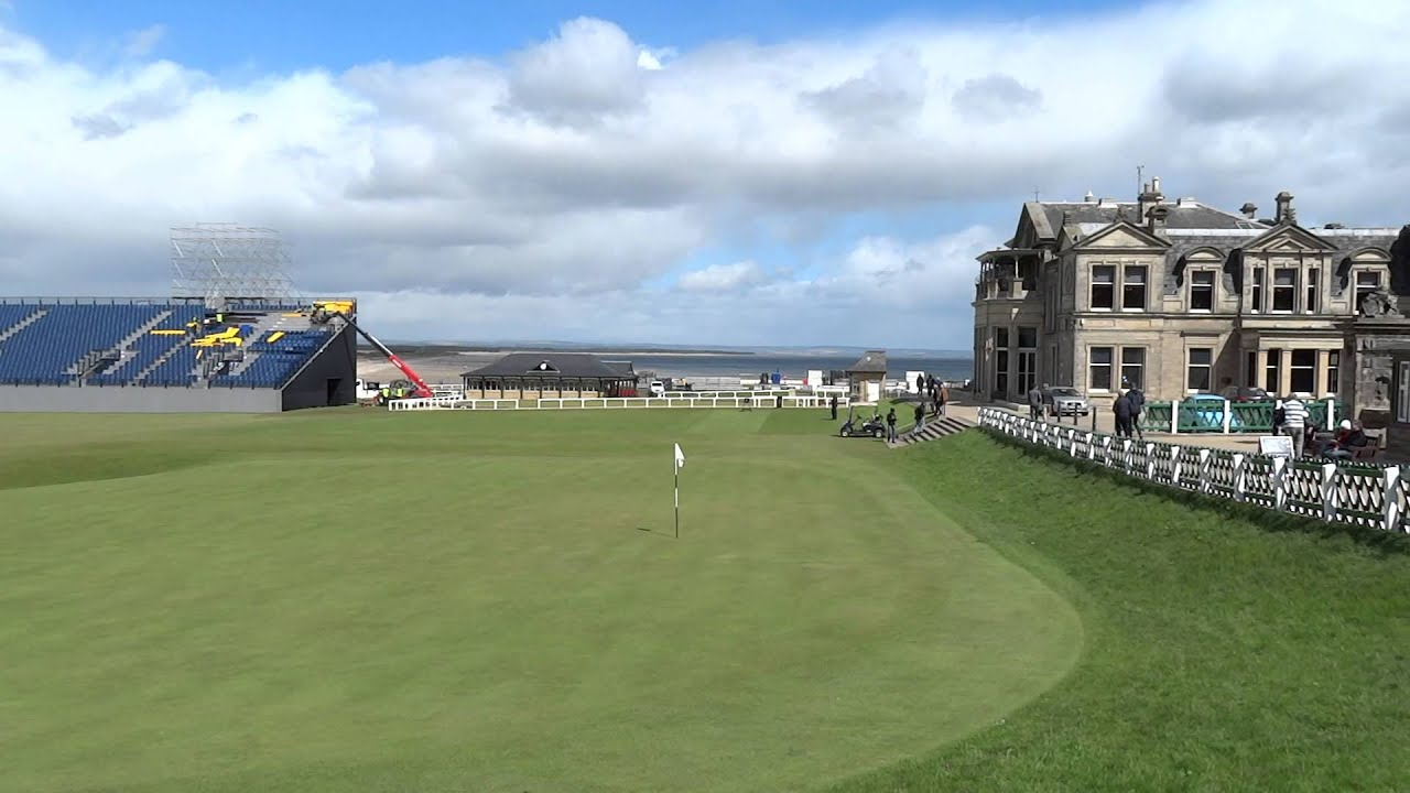 Building Spectator Stands For 2015 British Open St Andrews