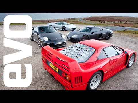 Cult of the Turbo – Ferrari F40 v Porsche GT2RS v Noble M600 v Jaguar XJ220 – evo Magazine