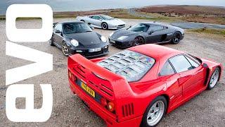 Cult of the Turbo - Ferrari F40 v Porsche GT2RS v Noble M600 v Jaguar XJ220 - evo Magazine
