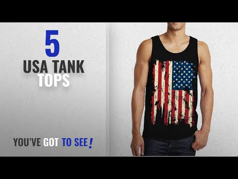 Top 10 Usa Tank Tops [Winter 2018 ]: SpiritForged Apparel Vintage Distressed USA Flag Men's Tank