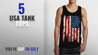 Top 10 Usa Tank Tops [Winter 2018 ]: SpiritForged Apparel Vintage Distressed USA Flag Men