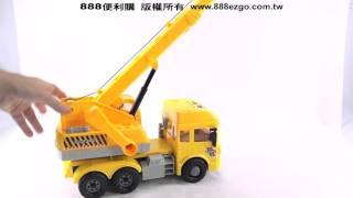 寶樂星6891仿真大台工程吊車(聲光音樂唐詩故事)(ABS高級塑料)【888便利購】文具批發、玩具批發