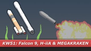 SpaceX Falcon 9 & H-IIA launch and a MEGAKRAKEN | kNews W.51/2017