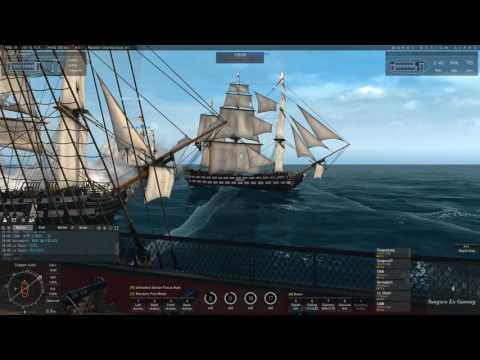 Naval Action]  Rear Admiral Fleet Mission with My Clan Members Feb 11, 2017