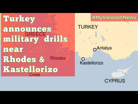 Turkey responds to Greece-Egypt maritime deal by announcing military drills near Greek islands