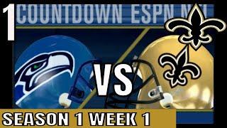 ESPN NFL 2K5 Saints Franchise mode: vs Seahawks Full Game   Cpu vs Cpu