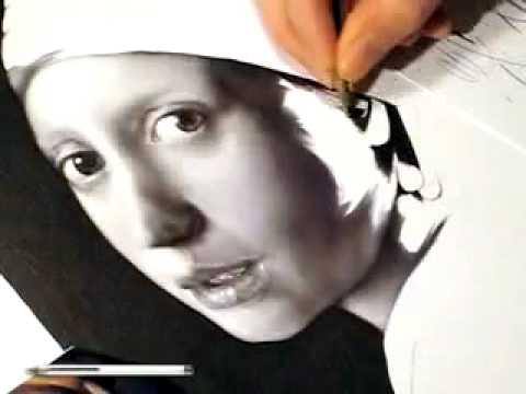 Vẽ tranh bằng 1 cây bút bi.flv