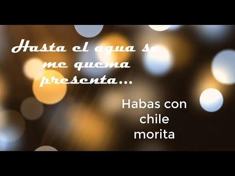 Habas con Chile Morita, deliciosas y fáciles