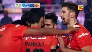 Match 13 - Chennai Spartans vs U Mumba Volley - U Mumba match point