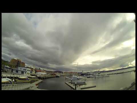 Timelapse over Constitution Dock, Hobart, Tasmania 26th December 2014