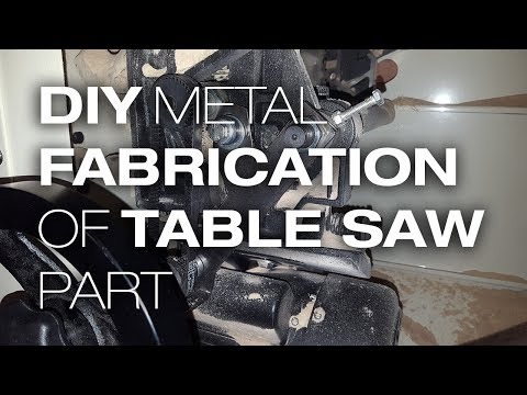 DIY metal fabrication - Fix for Tablesaw Bracket