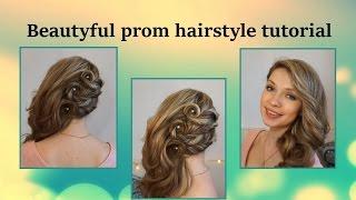Красивая прическа на выпускной самой себе ★ Beautyful prom hairstyle tutorial