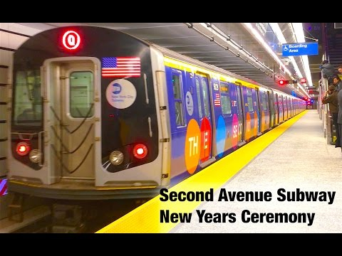 ⁴ᴷ New Years Eve Ceremony in Second Avenue Subway