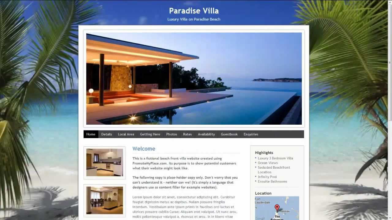 Attractive PromoteMyPlace   Create A Website For Your Holiday Cottage, Villa Or  Apartment