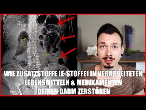 ZUSATZSTOFFE (E-Stoffe) in verarbeiteten LEBENSMITTELN und MEDIKAMENTEN zerstören deinen Darm!