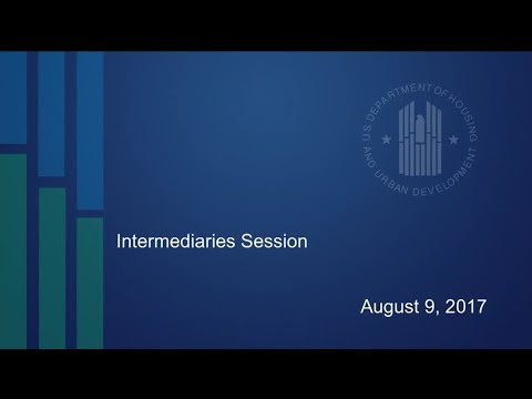 HUD Housing Counseling Intermediary Meeting