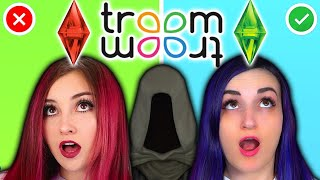 24 HOUR Living As A Sim Challenge ...but it's Troom Troom w/ @Vixella