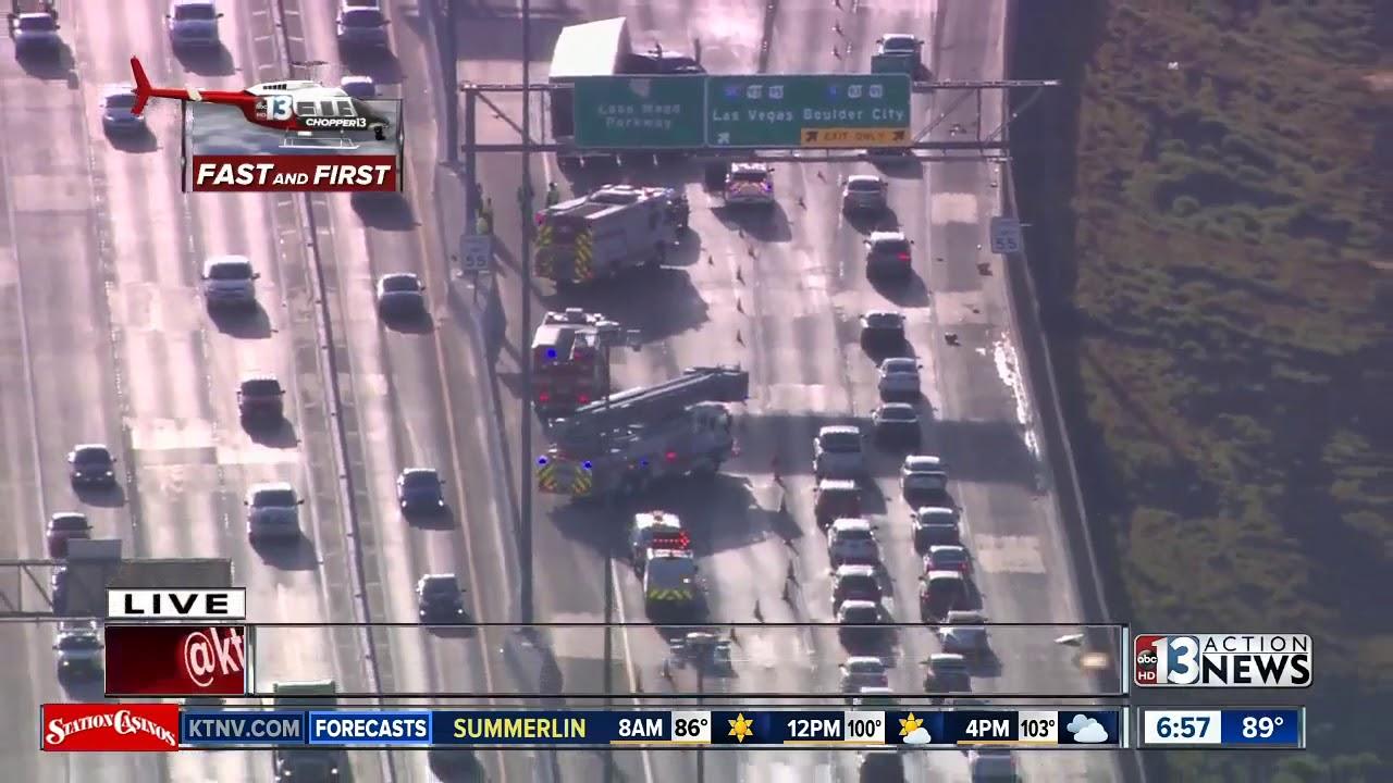Crash near I-215 and Gibson | Breaking news