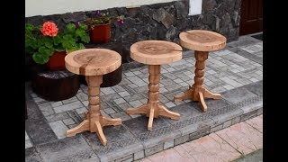 Three swivel stools
