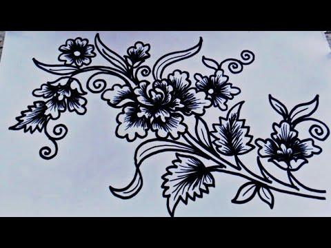 Memodifikasi Bunga Mawar Menjadi Motif Batik Kreasi Gambar